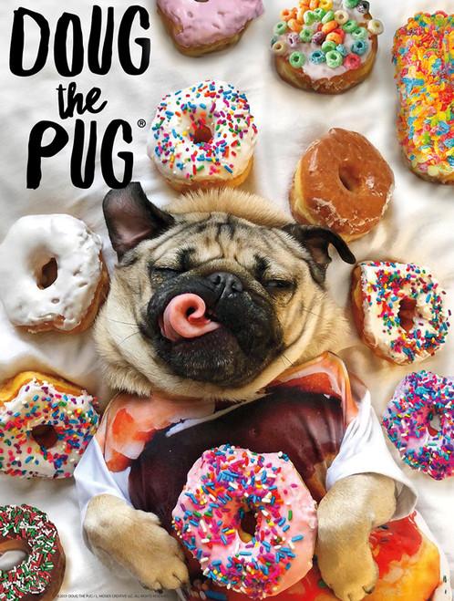 A Dog's Life: Doug the Pug Donut Doug - 750pc Jigsaw Puzzle by Buffalo Games
