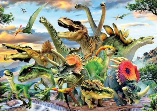 Dinosaurs - 500pc Jigsaw Puzzle by Educa