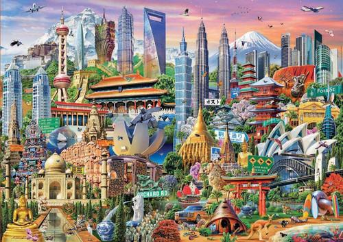 Asia Landmarks - 1500pc Jigsaw Puzzle by Educa