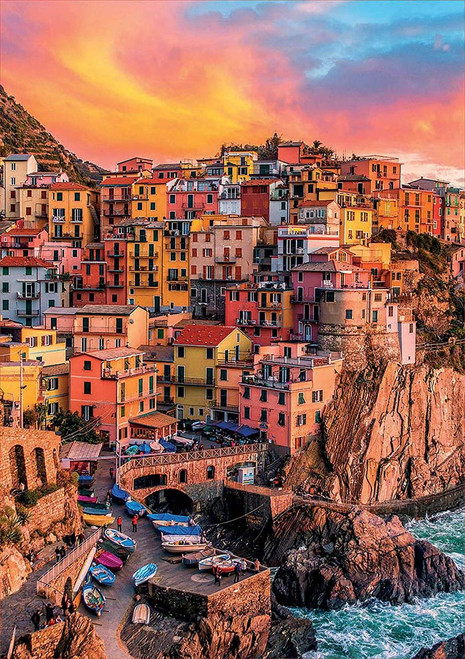 Manarola, Cinque Terre - 300pc Large Format Jigsaw Puzzle by Educa