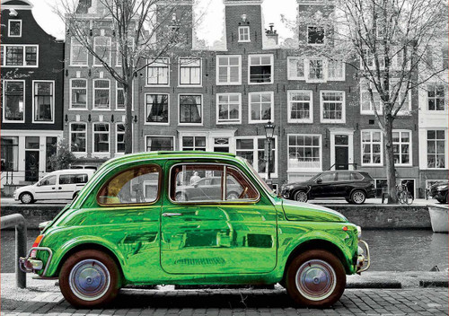Car in Amsterdam - 1000pc Jigsaw Puzzle by Educa