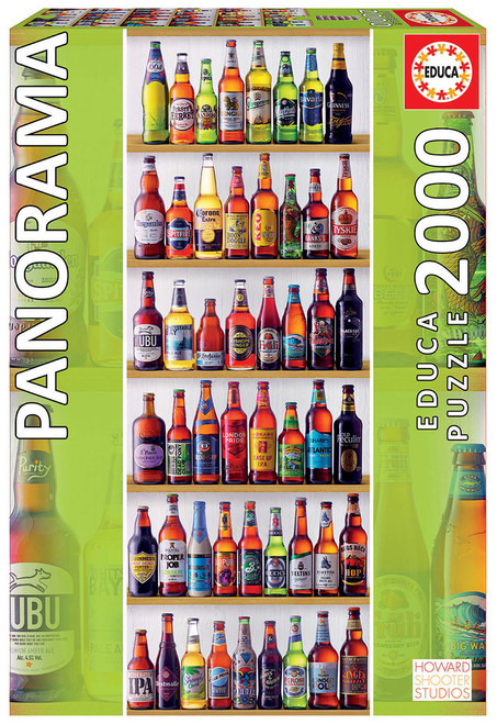 World Beers - 2000pc Panoramic Jigsaw Puzzle by Educa