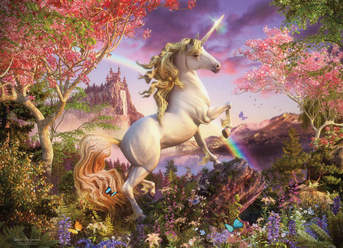 Realm of the Unicorn - 350pc Family Jigsaw Puzzle by Cobble Hill