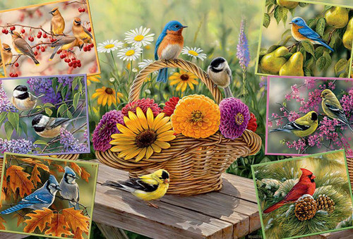 Rosemary's Birds - 2000pc Jigsaw Puzzle by Cobble Hill