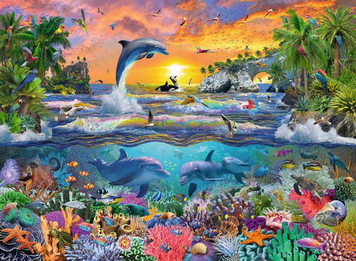 Tropical Paradise - 100pc Jigsaw Puzzle by Ravensburger