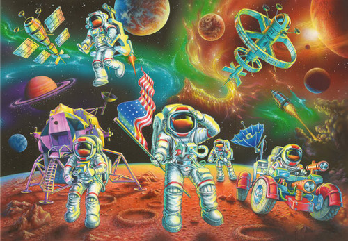 Moon Landing - 35pc Jigsaw Puzzle By Ravensburger