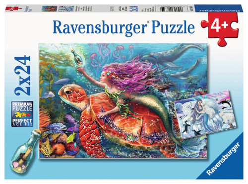 Mermaid Adventures - 2x24pc Jigsaw Puzzle By Ravensburger