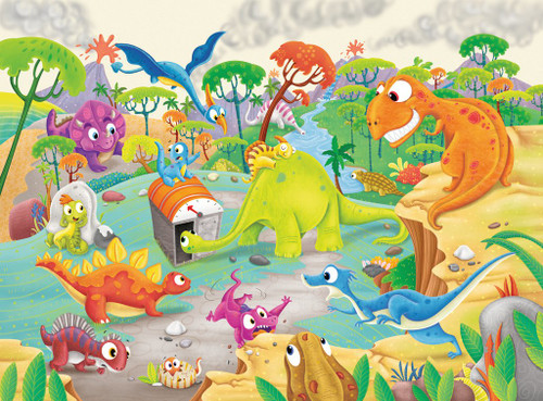 Time Traveling Dinos - 60pc Jigsaw Puzzle By Ravensburger