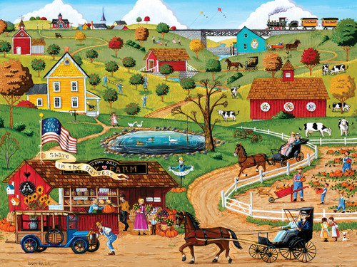 Town & Country: Share in the Harvest - 300pc EZ Grip Jigsaw Puzzle By Masterpieces