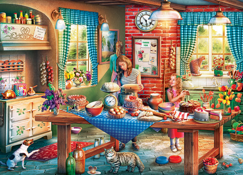 Childhood Dreams: Baking Bread - 1000pc Jigsaw Puzzle By Masterpieces