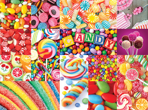 Collage Collections: Colorful Candy - 1000pc Jigsaw Puzzle by Lafayette Puzzle Factory