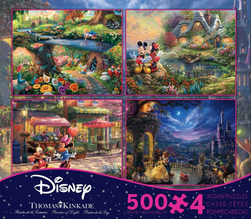 Thomas Kinkade Disney Collection - 500pc Multipack Jigsaw Puzzle by Ceaco