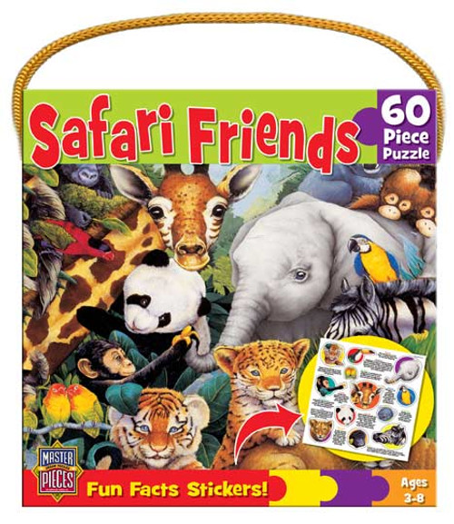 Safari Friends - 60pc Jigsaw Puzzle by Masterpieces