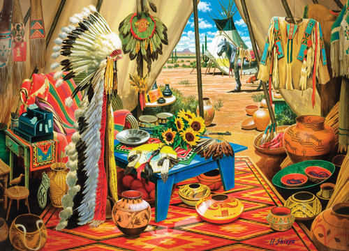 Tribal Spirit: Trading Post - 1000pc Jigsaw Puzzle by Masterpieces
