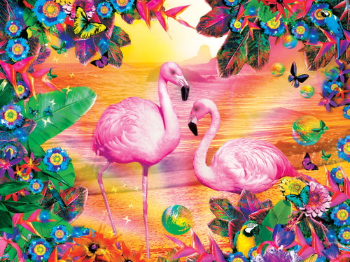 Tropics: Pretty in Pink - 300pc EZ Grip Jigsaw Puzzle By Masterpieces