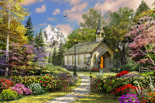 Mountain View Chapel - 500pc Jigsaw Puzzle By Springbok