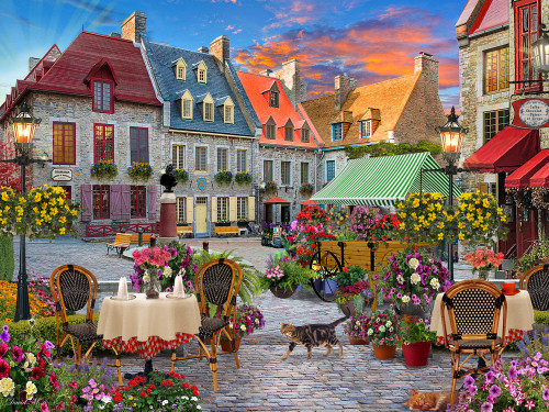 Village Square - 550pc Jigsaw Puzzle by Vermont Christmas Company