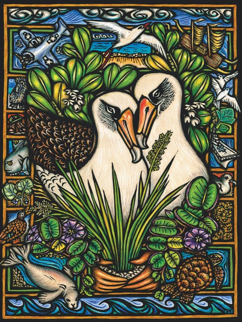 Albatross Duo - 1000pc Jigsaw Puzzle by New York Puzzle Company