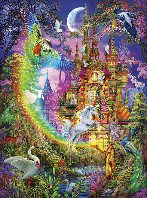 Vivid: Enchanted Castle - 1000pc Jigsaw Puzzle By Buffalo Games