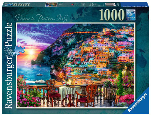 Dinner in Positano - 1000pc Jigsaw Puzzle By Ravensburger