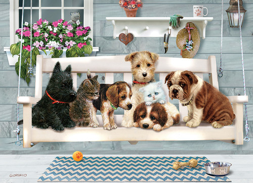 Porch Pals - 1000pc Jigsaw Puzzle by Jack Pine