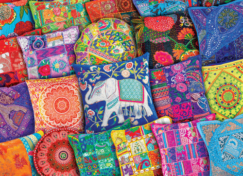Indian Pillows - 1000pc Jigsaw Puzzle by Eurographics