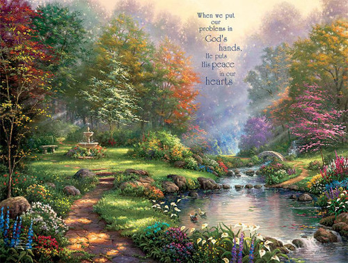 Thomas Kinkade Inspirations: Reflections of Faith - 300pc Oversized Jigsaw Puzzle by Ceaco