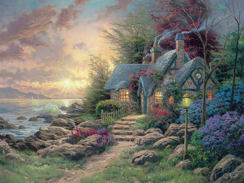 Thomas Kinkade Inspirations: Inspired Hideaway - 300pc Oversized Jigsaw Puzzle by Ceaco