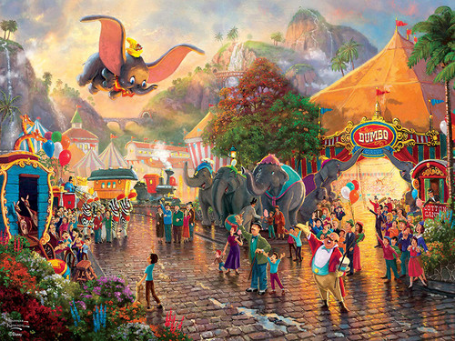Thomas Kinkade Disney: Dumbo - 300pc Oversized Jigsaw Puzzle by Ceaco