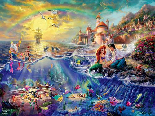 Thomas Kinkade Disney: Little Mermaid - 300pc Oversized Jigsaw Puzzle by Ceaco