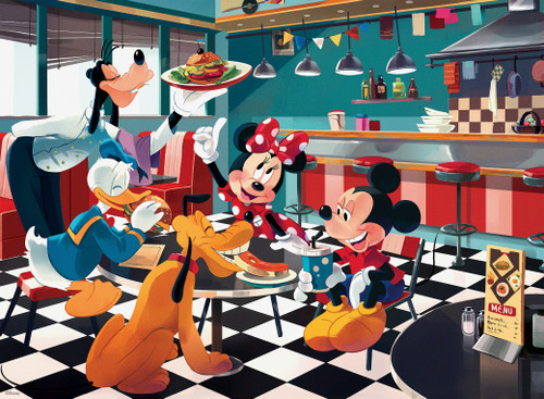 Disney Friends: Disney Diner - 200pc Oversized Jigsaw Puzzle by Ceaco