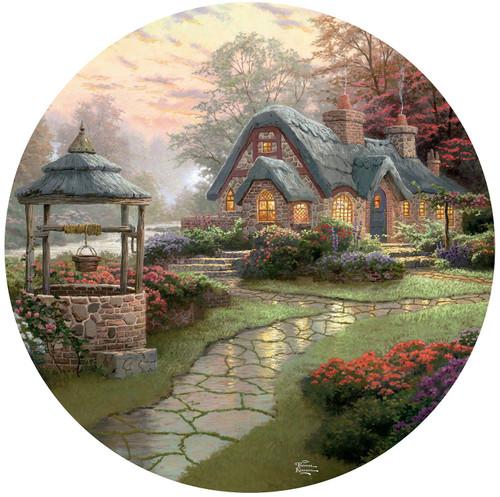 Thomas Kinkade: Make a Wish Cottage - 500pc Round Jigsaw Puzzle by Ceaco