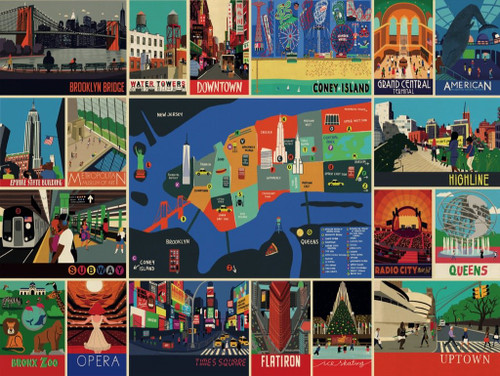 New York Collage - 500pc Jigsaw Puzzle by New York Puzzle Company