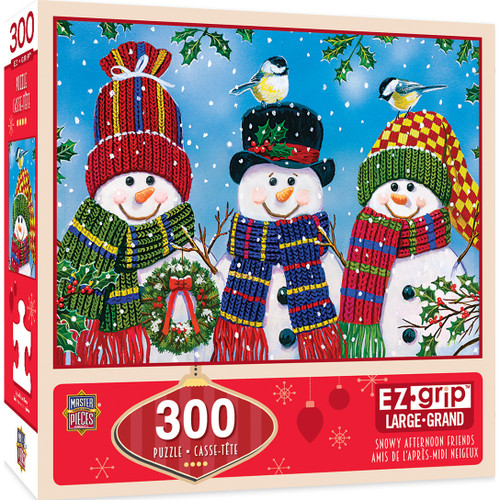 Snowy Afternoon Friends - 300pc EZ Grip Jigsaw Puzzle By Masterpieces