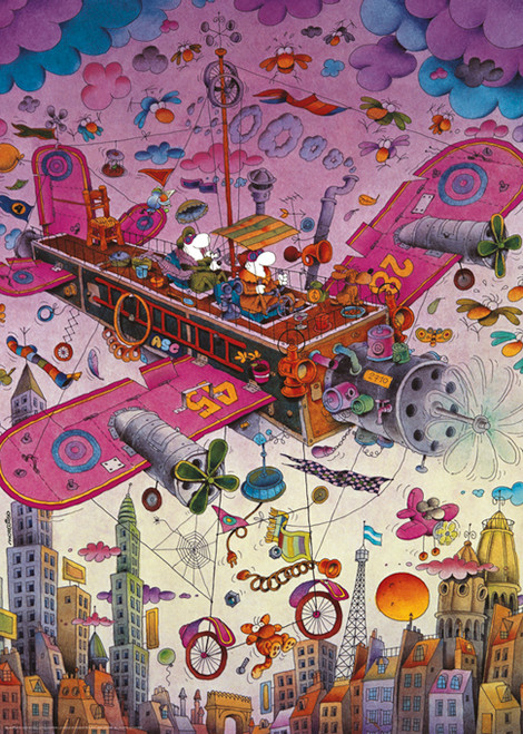 Mordillo: Fly with Me! - 1000pc Jigsaw Puzzle By Heye