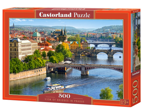View of Bridges in Prague - 500pc Jigsaw Puzzle by Castorland