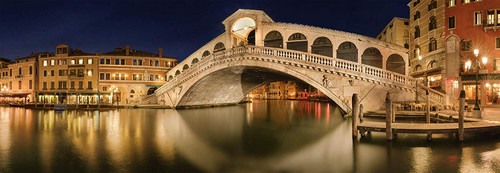 Rialto Bridge - 1000pc Panoramic Jigsaw Puzzle by Schmidt