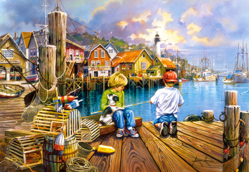 At the Dock - 1000pc Jigsaw Puzzle By Castorland