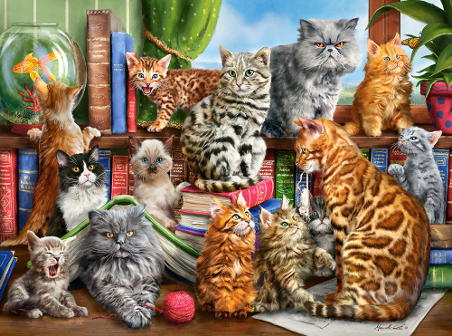 House of Cats - 2000pc Jigsaw Puzzle By Castorland