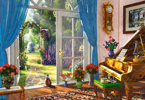 Doorway Room View - 1000pc Jigsaw Puzzle By Castorland