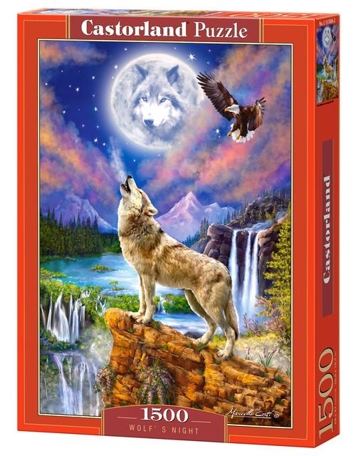 Wolf's Night - 1500pc Jigsaw Puzzle By Castorland
