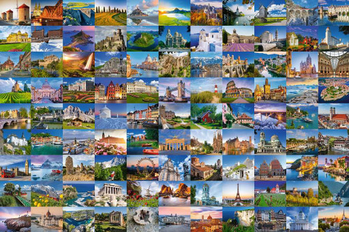 99 Beautiful Places in Europe - 3000pc Jigsaw Puzzle By Ravensburger