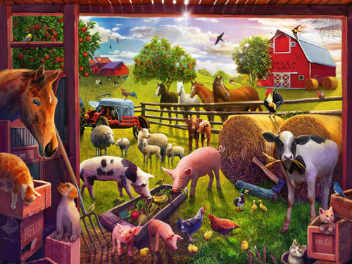 Animals of Bells Farm - 24pc Floor Puzzle By Ravensburger