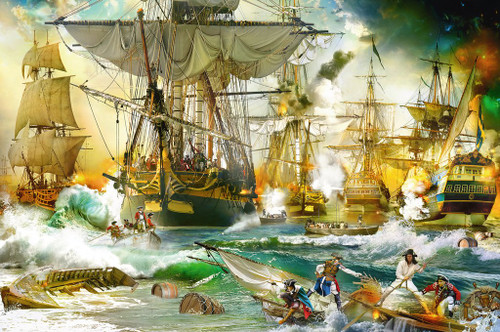 Battle on the High Seas - 5000pc Jigsaw Puzzle By Ravensburger