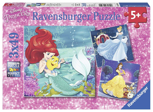 Disney Princesses Adventure - 3x49pc Multipack Jigsaw Puzzle By Ravensburger