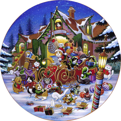 Here Comes Santa Paws Road - 500pc Jigsaw Puzzle By Sunsout
