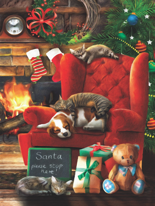 Santa Stop Here - 300pc Jigsaw Puzzle By Sunsout