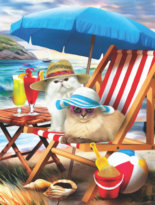 Beach Cats - 300pc Jigsaw Puzzle By Sunsout