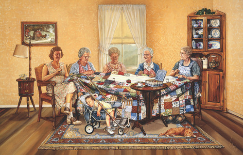 The Gossip Party - 1000pc Jigsaw Puzzle By Sunsout