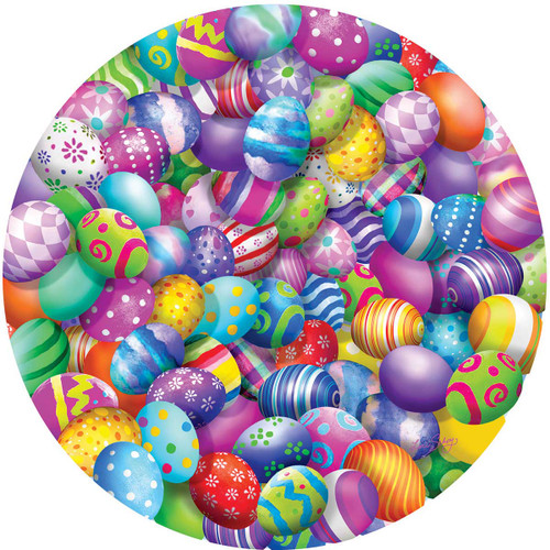 Easter Eggs - 500pc Round Jigsaw Puzzle By Sunsout